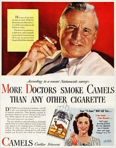 Doctors smoke camel.