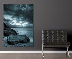 Tableau moderne Mer et Rochers par Izoa. Canvas Sea and Rocks by Izoa  #sea #decor #wall