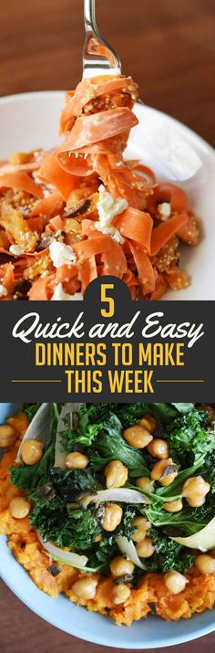 5 Quick And Easy Dinners To Make This Week
