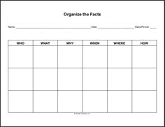 Free Printable Blank Vertical Flow Chart Graphic Organizer
