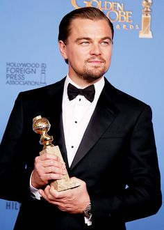Leo! He looked great at the Golden Globes.