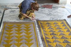 Block Printing in Bagru, India, Block Shop Textiles Textile Patterns, Textile Prints, Textile Texture, Floor Patterns, Geometric Patterns, Textile Art, Textile Company, Floor Cloth, Indian Textiles