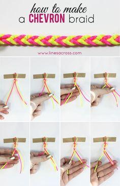 How to Make a Chevron Braided Bracelet
