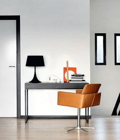 Nomi Modern Dining Chair By Boconcept.Home Tour: A Fashion Publicist's Sleek Modern Renovation . Toilets and Bathroom Ideas Home Study Rooms, Study Room Decor, Space Furniture, Home Office Furniture, Modern Furniture, Boconcept, Modern Dining Chairs, Room Interior, Contemporary Design