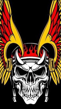 Harley Davidson Wallpaper, Harley Davidson Logo, Angel Wallpaper, Skull Wallpaper, Biker Clubs, Motorcycle Clubs, Biker Tattoos, Skull Tattoos, Stix And Stones