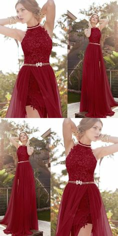 Hot Halter Lace Sexy burgundy prom dress, Shop plus-sized prom dresses for curvy figures and plus-size party dresses. Ball gowns for prom in plus sizes and short plus-sized prom dresses for Cute Prom Dresses, Event Dresses, Pretty Dresses, Homecoming Dresses, Beautiful Dresses, Dress Prom, Dress Long, Prom Gowns, Halter Prom Dresses Long