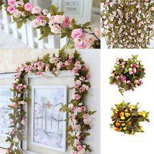 7ft Rose Flower Ivy Vine Silk Flowers Hanging Garland Plant Wedding Home Decor