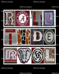 #Alabama #RollTide Roll Framed Alphabet Photo Art by DAMartndesigns, www.RollTideWarEagle.com sports stories that inform and entertain, plus #collegefootball rules tutorial. Check out our blog and let us know what you think. #RTR #RollTide