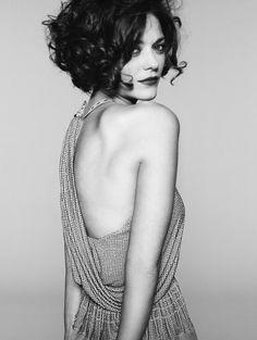 Marion Cotillard. Love the hair too...