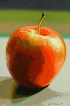 """Daily Paintworks - """"Apple A Day"""" by Dean Shelton"""