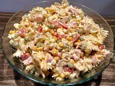 Sałatka z makaronem i wędzonym kurczakiem - Blog z apetytem Salad Recipes, Healthy Recipes, Tortellini, Pasta Salad, Potato Salad, Salads, Food Porn, Lunch Box, Food And Drink