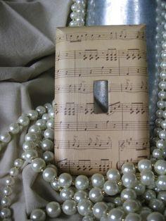Aged Sheet Music Decorative Switch Plate
