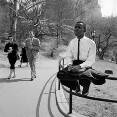 Hopeful in Central Park- by Vivian Maier 1955
