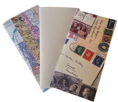 3X Junk Journal Travelers Notebook Inserts  Mixed Paper Midori TN Insert Fauxdori TN insert Traveler NB Midori Accessory Multipack C by BespokeBindery