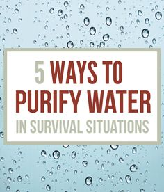 Survival Skills: How To Purify Water Survival Water Purification. Safety methods on water purification. Survival Guides and Prepping Ideas Water Survival, Survival Life, Homestead Survival, Survival Food, Wilderness Survival, Camping Survival, Outdoor Survival, Survival Prepping, Survival Skills