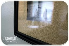 Pottery Barn inspired burlap picture mats....easy!!