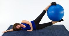 3. Ball Leg Lifts: Using an exercise ball when strength training is a great way to add a little bit more challenge to