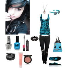 black emo outfits | fashion look from July 2011 featuring Forever 21 tops, Ksubi jeans ...