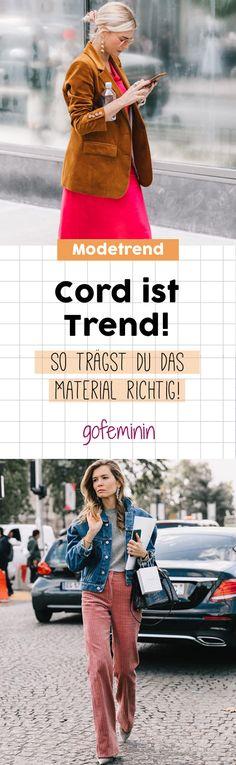 Stylisch statt spießig: So trägst du das Trend-Material Cord richtig!