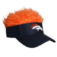 Denver Broncos Flair Hair Visor  FlairHair  NFL  Sports 7d4c9aae68ac
