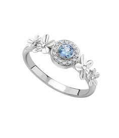 sapphire forget-me-not ring