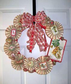 Christmas Book fan Wreath