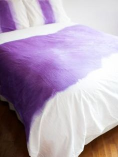 How to Ombre Dip-Dye a Duvet Cover | Easy Crafts and Homemade Decorating & Gift Ideas | HGTV