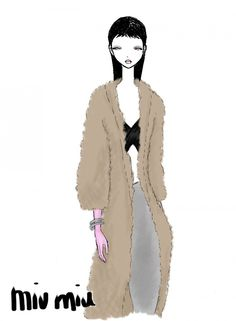 Artist Rei Nadal draws live from the front row - Miu Miu @ Paris Womenswear S/S 2013 - SHOWstudio - The Home of Fashion Film