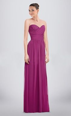Flowing Draped Ruched Floor-length Sweetheart Column Bridesmaid Dress