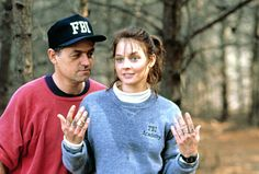 Director Jonathan Demme and Jodie Foster on the set of The Silence of the Lambs (1991)