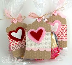 Valentine's Treat Tags I made and packaged with dipped Milano cookies for Valentine's Day