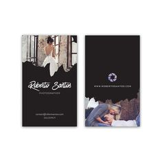 Photographer Business Card Design With Pictures  by VisualPixie