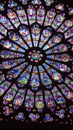 rose window inside Notre Dame photographed by Michele Hauf