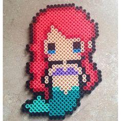 Ariel (The Little Mermaid) perler beads by meganmorphine - Original design by tsubasa.yamashita