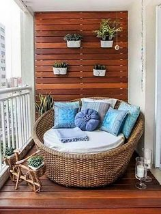Let's reshape the ordinary appearance of your balcony area by crafting this recycled pallet balcony art. The beautifully constructed wooden wall and floor appear stunning as well as stylish as shown in the picture given below. #homedecor #walldecor #patios #balcony #pallet #pallets #woodpallets #palletfurniture #palletprojects #palletideas #recycle #recycledpallet #reclaimed #repurposed #reused #restore #upcycle #diy #palletart