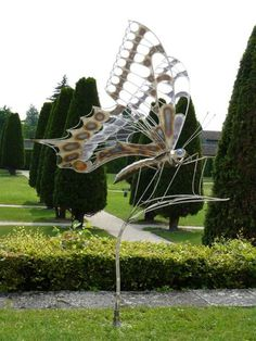 Butterfly sculpture by Galain