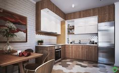 Cucina in stile in stile Scandinavo di Polygon arch&des