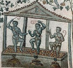 Wine Making; detail | c. 350 CE | Chiesa di S. Costanza (Rome, Italy) | Image and original data provided by SCALA, Florence/ART RESOURCE, N.Y. ; artres.com ; scalarchives.com | (c) 2006, SCALA, Florence / ART RESOURCE, N.Y.