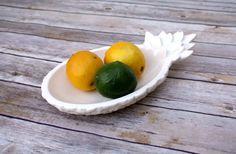 Pineapple Dish - Handmade Ceramic Pineapple, Large Size!  Pineapple bowl, tropical tiki style.  Tiki bar, fruit dish, symbol of hospitality