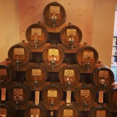 A beautiful wall of whiskey, cognac, and scotches ...