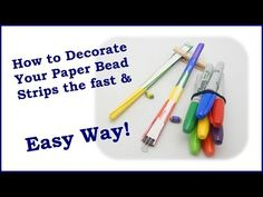 Color Your Paper Bead Strip Edges the Easy Way! - YouTube