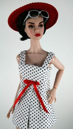 Swimsuit and Hat for Barbie by ChicBarbieDesigns on Etsy, $20.99