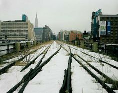 Joel Sternfeld | The High Line  love the way the tracks stand out against the snow
