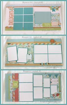 Scrapbooking Kits: Scrapbook Layout Cutting Guides