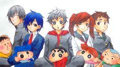 crayon shin-chan: The Kasukabe Defense Organization bo-chan, Kazama, shin-chan, Nene and Masao Anime Vs Cartoon, Cartoon Pics, Cute Cartoon Wallpapers, Sinchan Wallpaper, Cute Baby Wallpaper, Fan Anime, Anime Art, Kawaii Bunny, Crayon Shin Chan