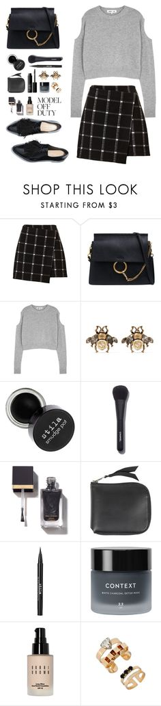 """Model Off Duty"" by lilymadelyn ❤ liked on Polyvore featuring Chloé, McQ by Alexander McQueen, Gucci, Chanel, Acne Studios, NARS Cosmetics, Stila, Context and Bobbi Brown Cosmetics"