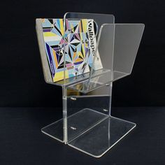 Lucite Magazine Rack now featured on Fab.