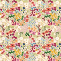 Spring Flowers fabric by thalita_dol on Spoonflower - selbstentworfener Stoff Nail Designs Spring, Cool Nail Designs, Flower Wallpaper, Pattern Wallpaper, Spring Wallpaper, Fabric Patterns, Print Patterns, Floral Patterns, Surface Design
