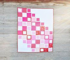 Love Squared Quilt Pattern | Go pink this year with this gorgeous modern quilt pattern!