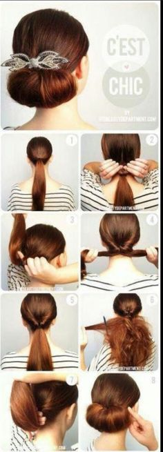 easy and cute bun you can actually do by yourself